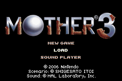 Mother 3 title screen